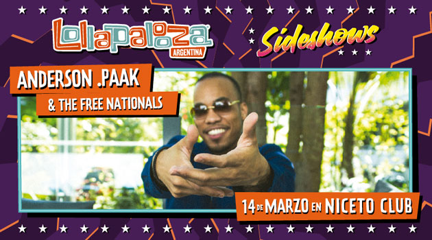 CANCELADO - Lollapalooza Sideshows pres. ANDERSON .PAAK & THE FREE NATIONALS
