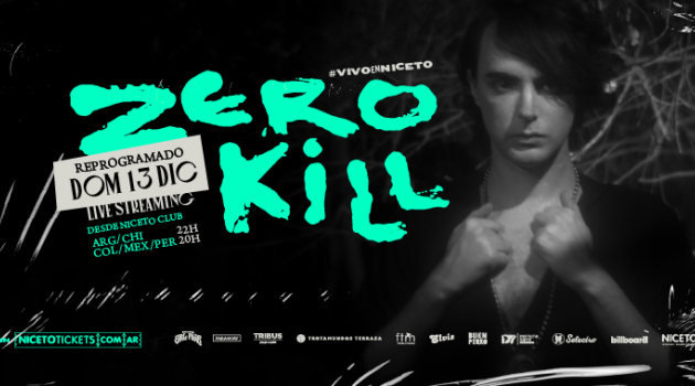 ZERO KILL presenta LAPSUS live streaming en Niceto Club