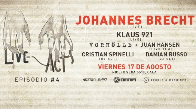 Live Acts  #4 pres. Joahannes Brecht