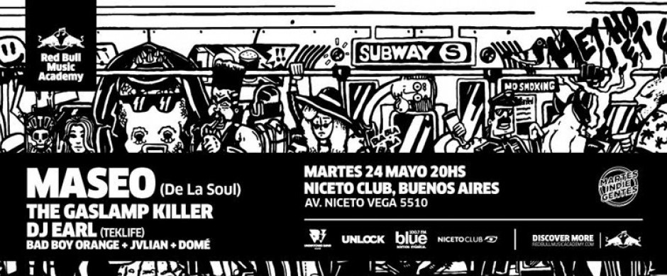 Red Bull Music Academy y Martes Indiegentes pres. MASEO (US), DJ EARL (US) y THE GASLAMP KILLER (US)