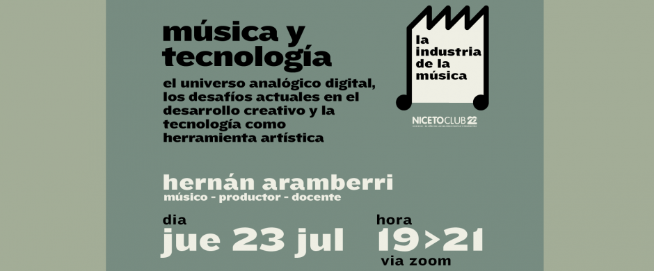 Workshop  Música y Tecnología |ONLINE via ZOOM|