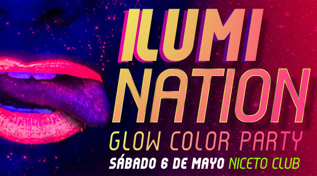 Fiesta Piso Compartido IlumiNATION Glow Color Party